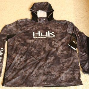 Huk Men's Icon Camo Hoodie, Night Vision, XLarge